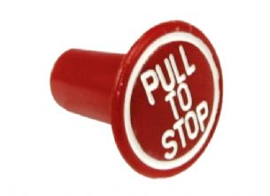 Red Tractor Stop Control Knob